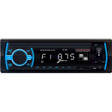 Radio samochodowe VK 1041 BT Blue ISO oraz pilot
