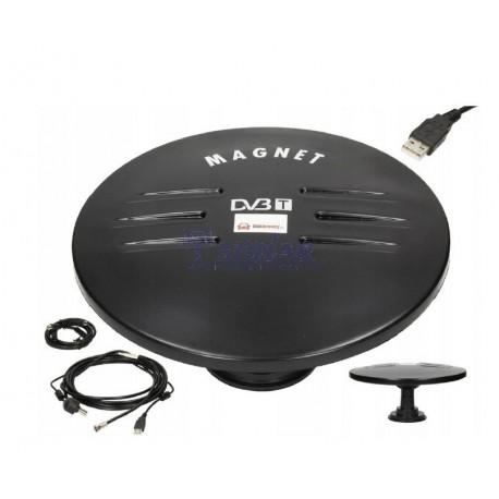Antena telewizyjna DVB-T z USB na magnesie