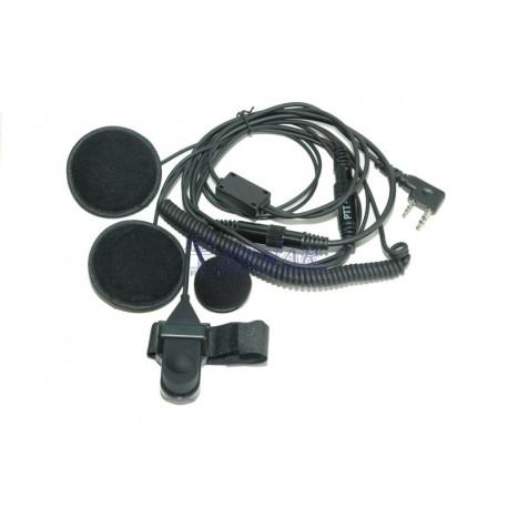 Zestaw słuchawkowy motocyklowy z PTT do Baofeng bbs/3R Plus/5R/6R/UV82, złącze Kenwood