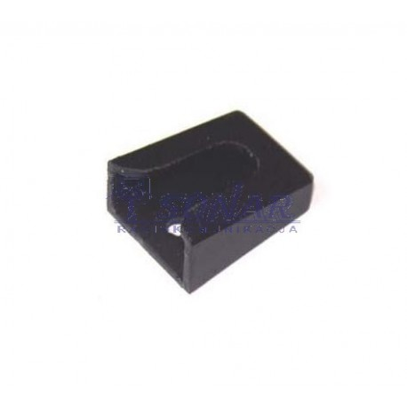 Czarny wieszak mikrofonowy CB plastik