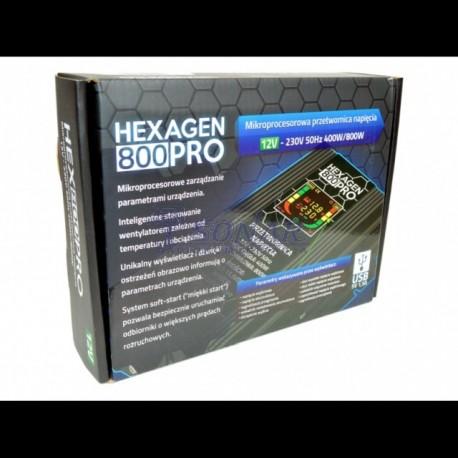 PRZETWORNICA HEX-400/800 PRO 12V  LED