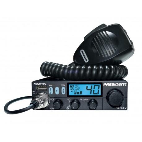 Radio CB Martin z USB ,12/24V ANL