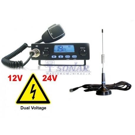 Radio CB TTI 550 AM w zestawie z anteną DELTA 874