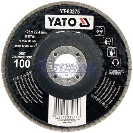 YT-83273 ŚCIERNICA LISTKOWA PŁASKA 125mm   P60