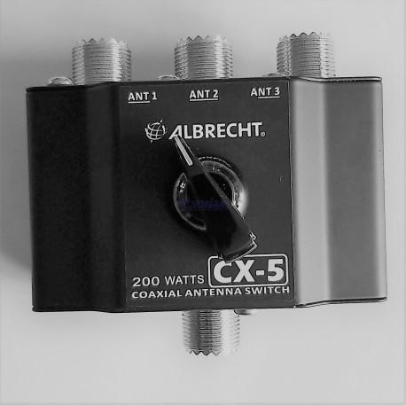 Przełącznik antenowy Albrecht cx-5   3 pozycje