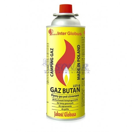 Gaz do kuchenki turystycznej, lamp gazowych, ogrzewania czy grilla 225gr/400ml