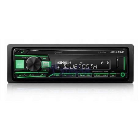 RADIO SAMOCHODOWE ALPINE UTE201BT BEZ CD/USB +BT+IPOD