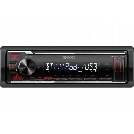 Radio Sam.Kenwood KMM-BT206 bez CD/AUX+USB+BT Red