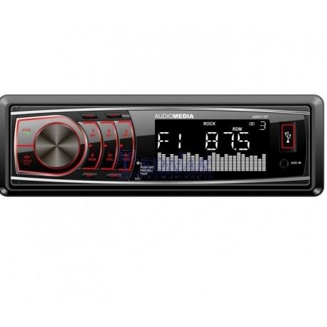 Radio sam. Audiomedia AMR417 BT USB+SD+BT Red RDS